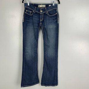 BKE Denim Starlite Flare Low Rise Jeans